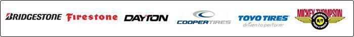 We carry products from Bridgestone, Firestone, Dayton, Cooper, Toyo, and Mickey Thompson.