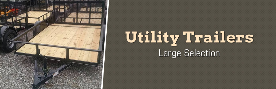 We have a large selection of utility trailers!