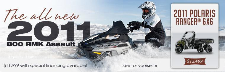The all new 2011 800 RMK Assault is only $11,999 with special financing available! Click here to view it.