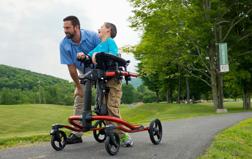 Father and Son with Pacer Gait Trainer