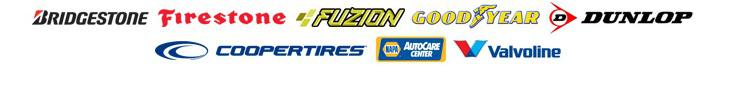 We also carry products from Bridgestone, Firestone, Dayton, Fuzion, Goodyear, Dunlop,Valvoline and Cooper. We are a Napa Auto Care Center.