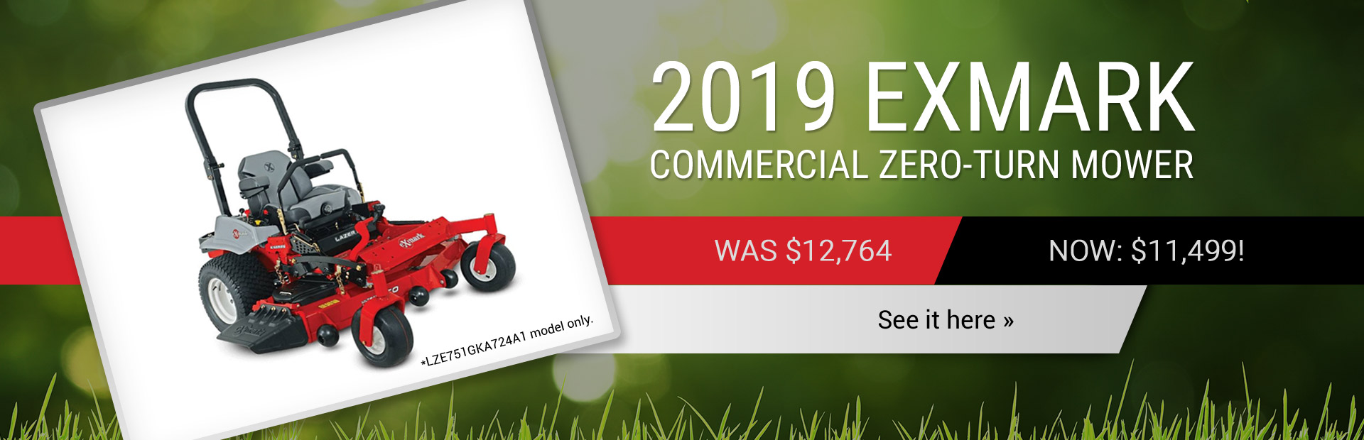 2018 Exmark Commercial Zero-Turn Mower: Get yours for just $8,999!