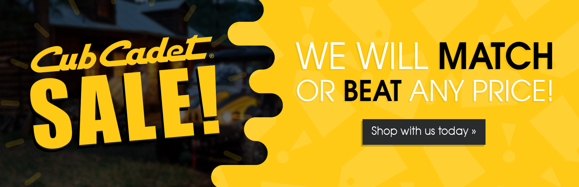 Cub Cadet Sale: We will match or beat any price! Shop with us today.