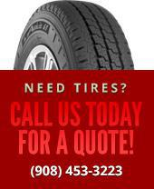 Need tires? Call us today for a quote: (908) 453-3223.