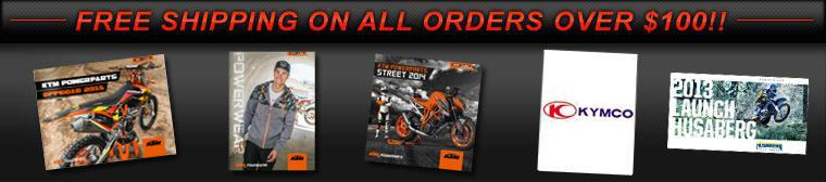 We proudly offer products from: KTM, Husaberg, KYMCO, Leatt Brace, and Beta.