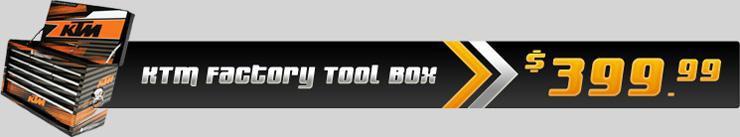 KTM Factory Tool Box $399.99.
