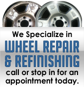We specialize in hubcap and wheel refinishing. Schedule an appointment today.