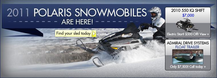 2011 Polaris snowmobiles are here! Click here to find your sled today!