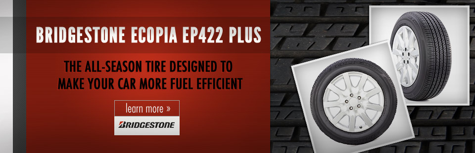 The Bridgestone Ecopia EP422 Plus is the all-season tire designed to make your car more fuel efficient.