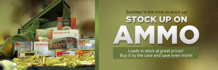 Summer is the time to stock up on ammo! Contact us for details.