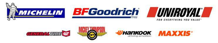 We carry products from Michelin®, BFGoodrich®, Uniroyal®, General, Mickey Thompson, Hankook and Maxxis.