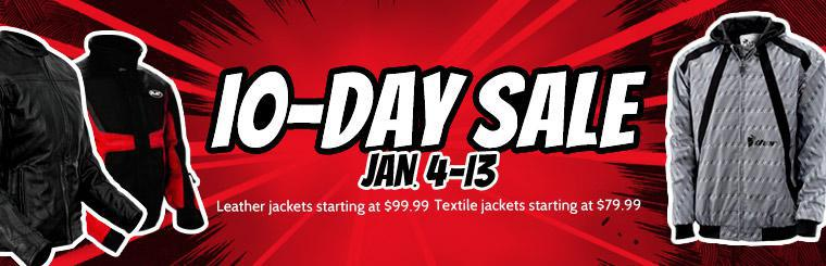 Our 10-Day Jacket Sale takes place January 4-13! Click here to view the sale items.
