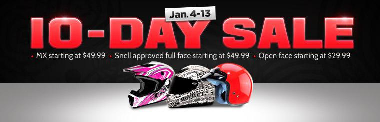 Our 10-Day Helmet Sale takes place January 4-13! Click here to view the helmets.