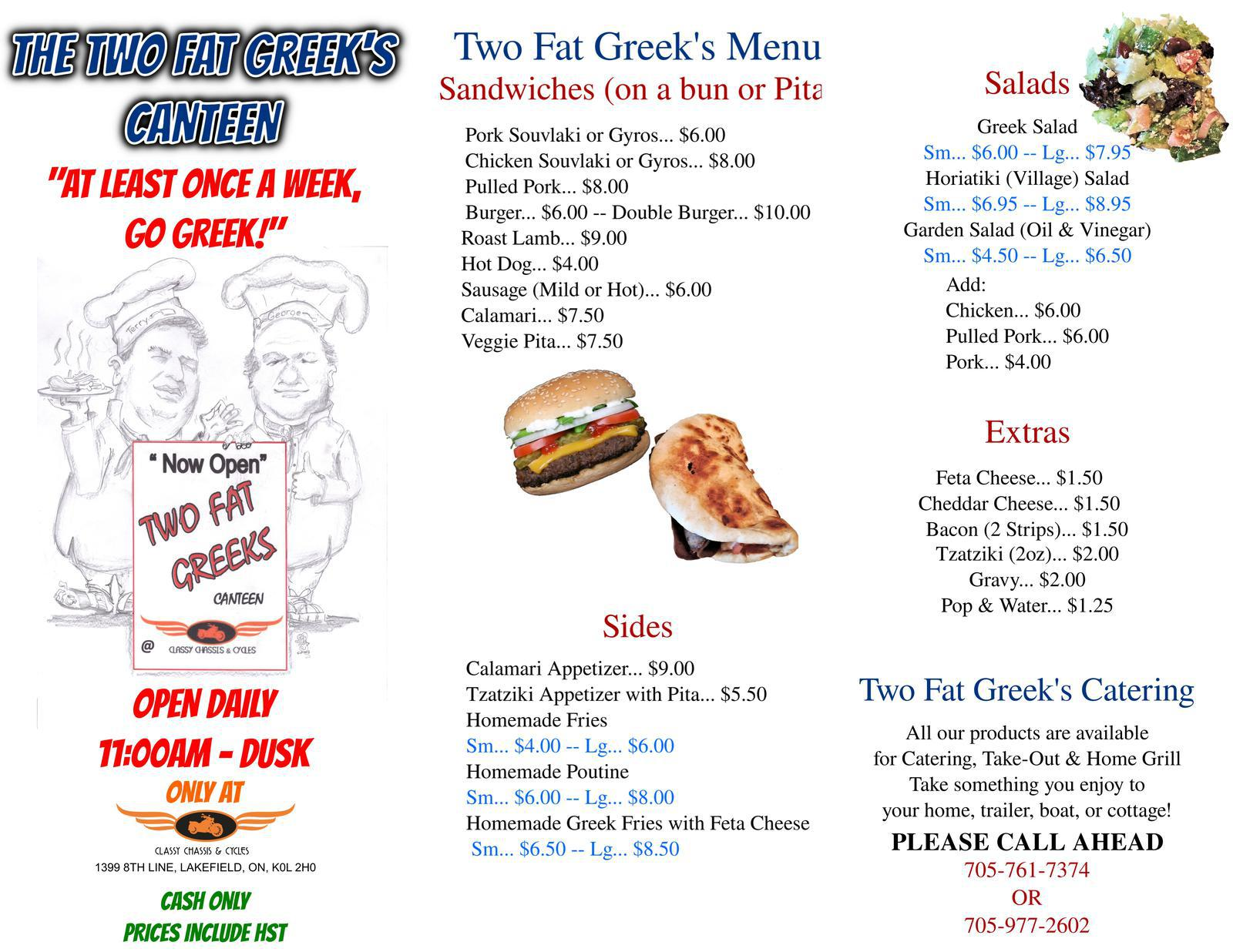 FAT GREEK MENU