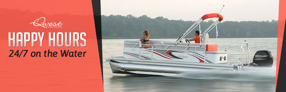 Click here to view our selection of boats from Apex Marine, and get out on the water for your happy hours!