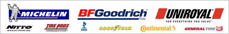 We proudly carry products from Michelin®, BFGoodrich®, Uniroyal®, Nitto, Goodyear, Continental, and General. We are a Tire Pros dealer. we are affiliated with the BBB.