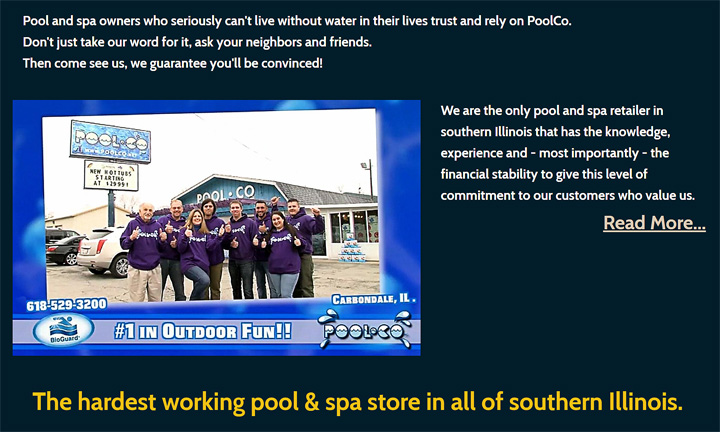 PoolCo promises a great experience