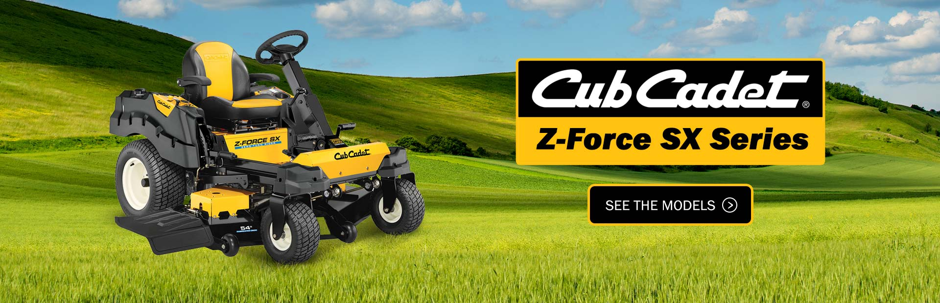 Cub Cadet Z-Force SX Series: Click here to view the models.