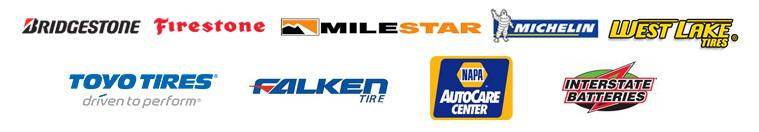 We proudly carry products from Bridgestone, Firestone, Milestar, Michelin®, Westlake, Toyo, Falken, Napa, and Insterstate Batteries. We accept Visa, and MasterCard. Our site is secured by GeoTrust.
