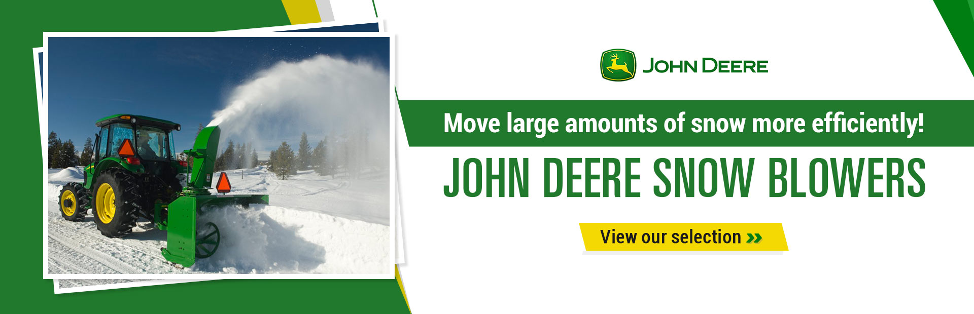 John Deere Snow Blowers: Move large amounts of snow more efficiently!