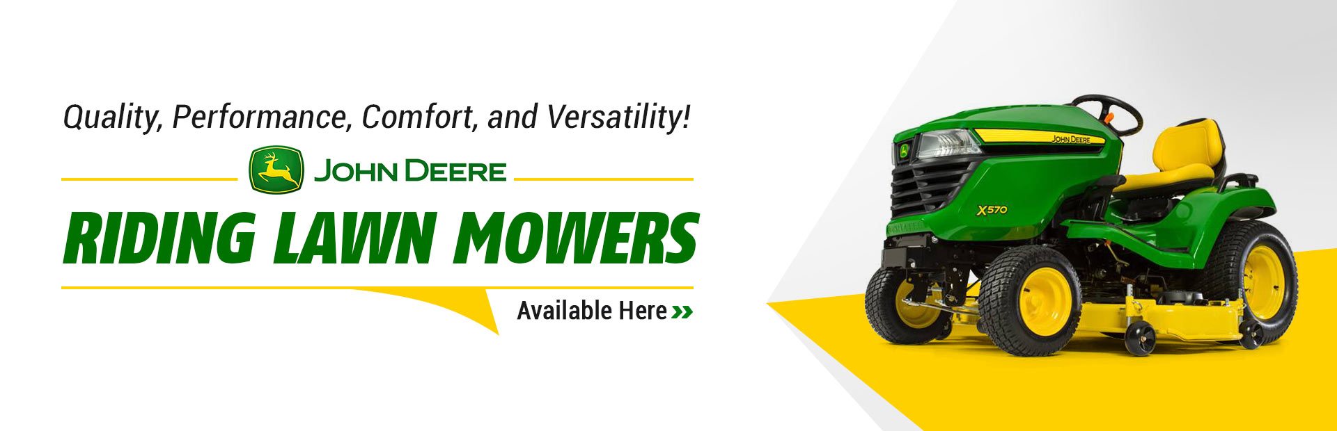 John Deere Riding Lawn Mowers: Click here to view the models.
