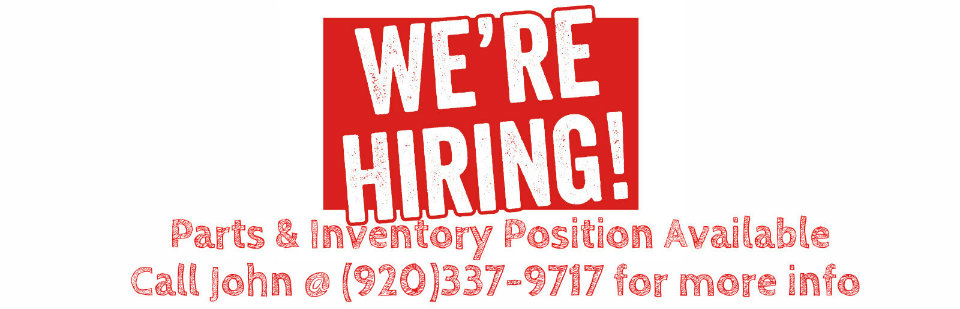 We're Hiring, Parts and Inventory
