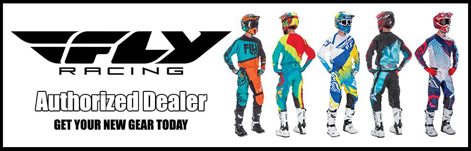 Fly Racing Authorized Dealer, Boots, Helmets, Gloves and Riding Pants and Jerseys in Stock now