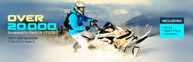 We have over 20,000 snowmobile parts in stock, and we offer next day delivery if we don't! Click here to view our selection.
