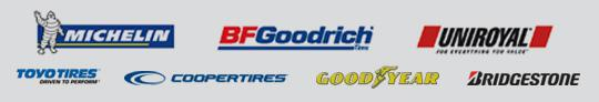 We carry tires from Michelin®, BFGoodrich®, Uniroyal®, Toyo Tires, Cooper Tires, Goodyear, and Bridgestone.