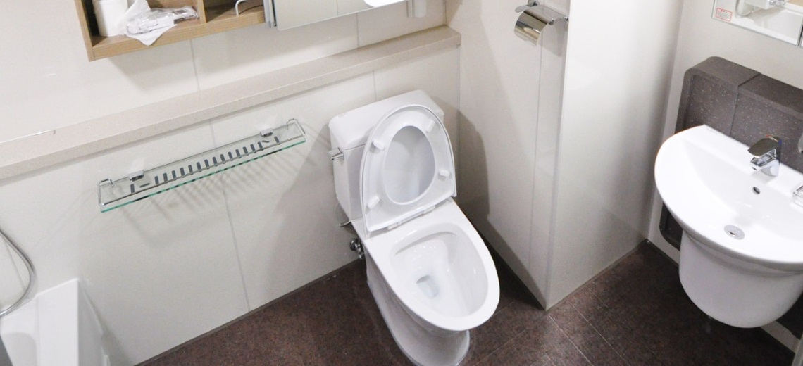 a fully equipped bathroom
