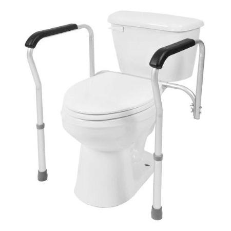 a toilet safety frame