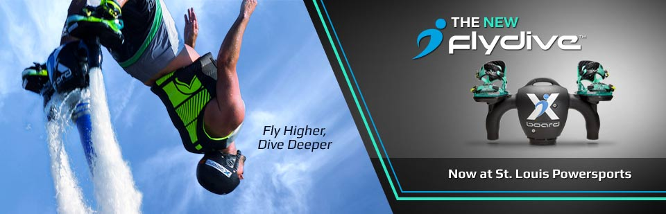 Fly higher and dive deeper with the new FlyDive, now at St. Louis Powersports! Click here to contact us for information.