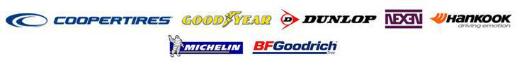 We carry products from Cooper, Goodyear, Dunlop, Nexen, Hankook, Michelin®, and BFGoodrich®.