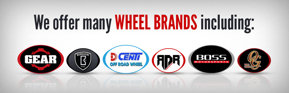 We offer many wheel brands! Click here to view our selection.