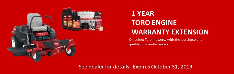 1 Year Toro Engine Warranty Extension
