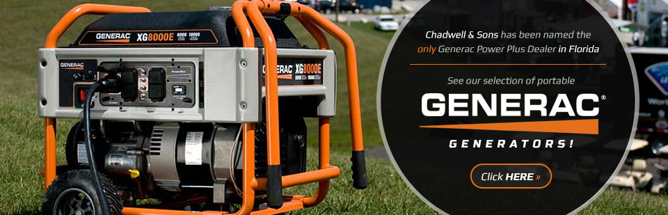 Chadwell & Sons has been named the only Generac Power Plus Dealer in Florida!