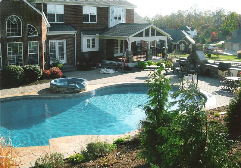 Inground swimming pools lipps pools spas inc florence for In ground pool companies