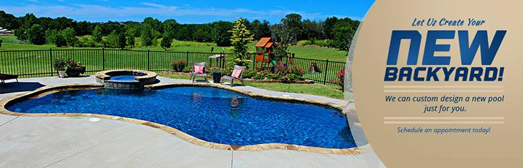 Let us create your new backyard! We can custom design a new pool just for you. Schedule an appointment today!