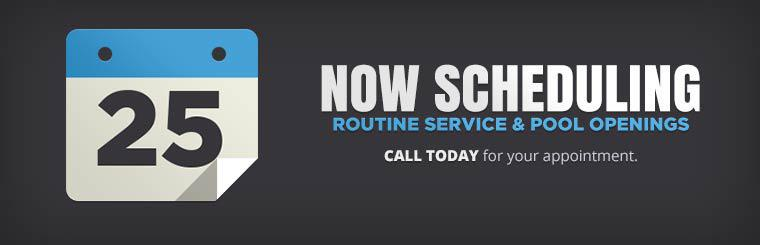 We are now scheduling routine service and pool openings. Click here to contact us.