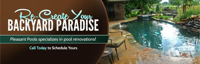 Pleasant Pools specializes in pool renovations! Click here to contact us.