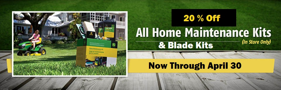 Get 15% off all home maintenance kits (in store only)! This offer is valid February 1, 2018 - April 30, 2018.