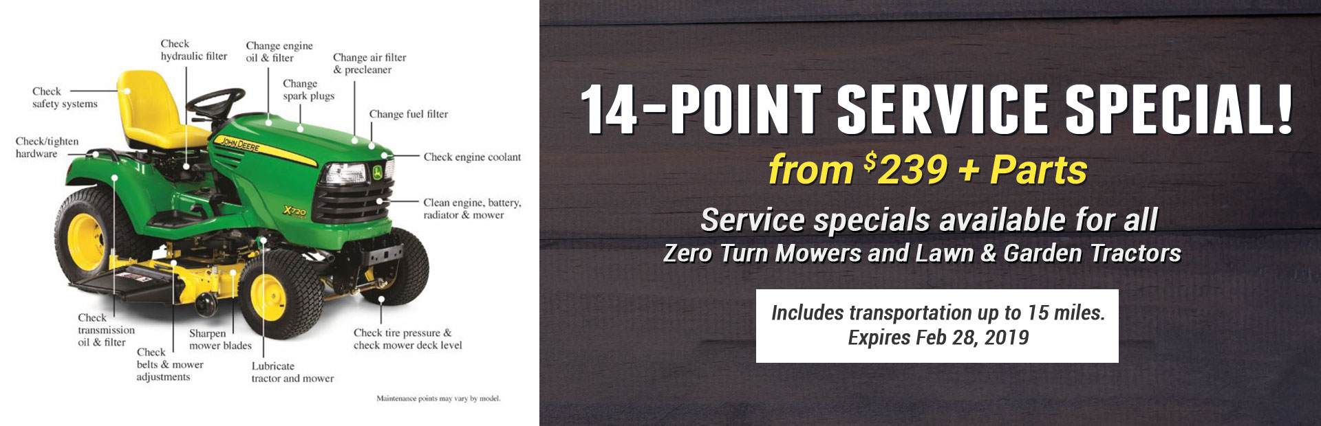 14-Point Tractor Service Special