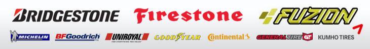 We offer products from Bridgestone, Firestone, Fuzion, Michelin®, BFGoodrich®, Uniroyal®, Goodyear, Continental, General, and Kumho.