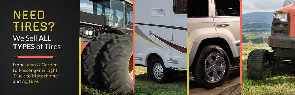 At Albright Service Center we sell all types of tires from lawn & garden tires to RV tires and trailer tires.