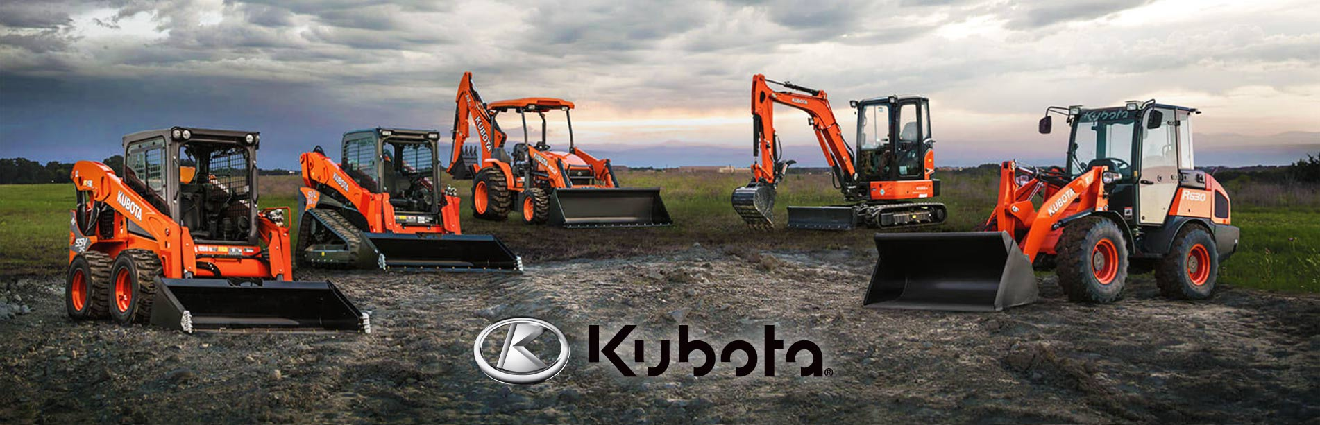 Kubota Construction Equipment banner