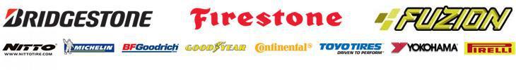 We proudly carry products from brands such as Bridgestone, Firestone, Fuzion, Nitto, Michelin®, BFGoodrich®, Goodyear, Continental, Toyo Tires, Yokohama, and Pirelli.