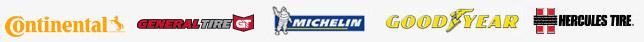 We proudly carry products from Continental, General, Michelin®, Goodyear, and Hercules.