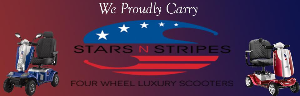 We Proudly Carry Stars N Stripes Luxury Scooters