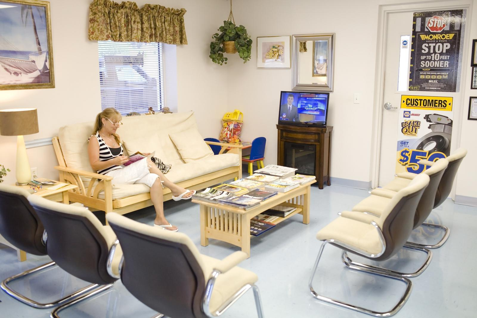 Waiting Room at At Home Auto Care