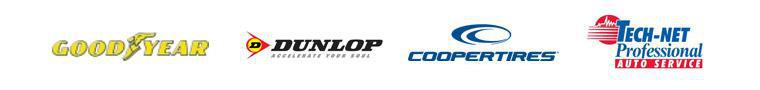 We carry products from Goodyear, Dunlop, and Cooper. We are affilated with TECH-NET.